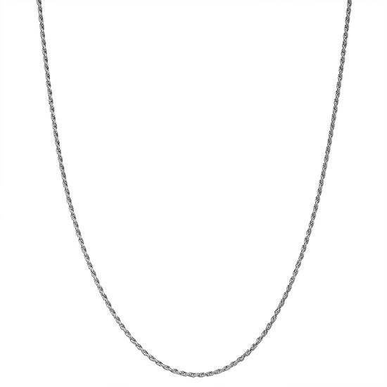 Children's Sterling Silver 15 Inch Rope Chain Necklace