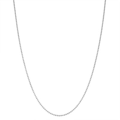 Children's Sterling SIlver 15 Inch Bead Chain Necklace