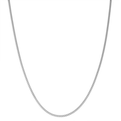 Children's Sterling Silver 15 Inch Curb Chain Necklace
