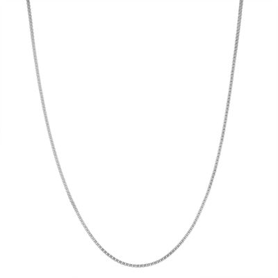 Sterling Silver 15 Inch Solid Box Chain Necklace
