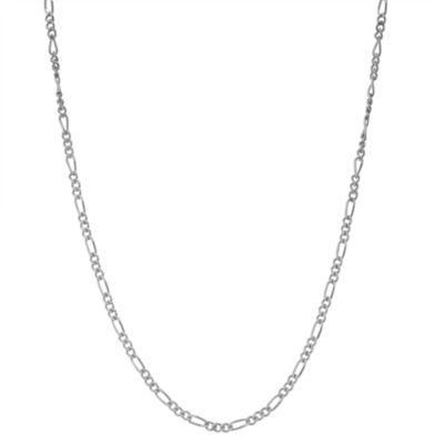 Sterling Silver 15 Inch Solid Figaro Chain Necklace