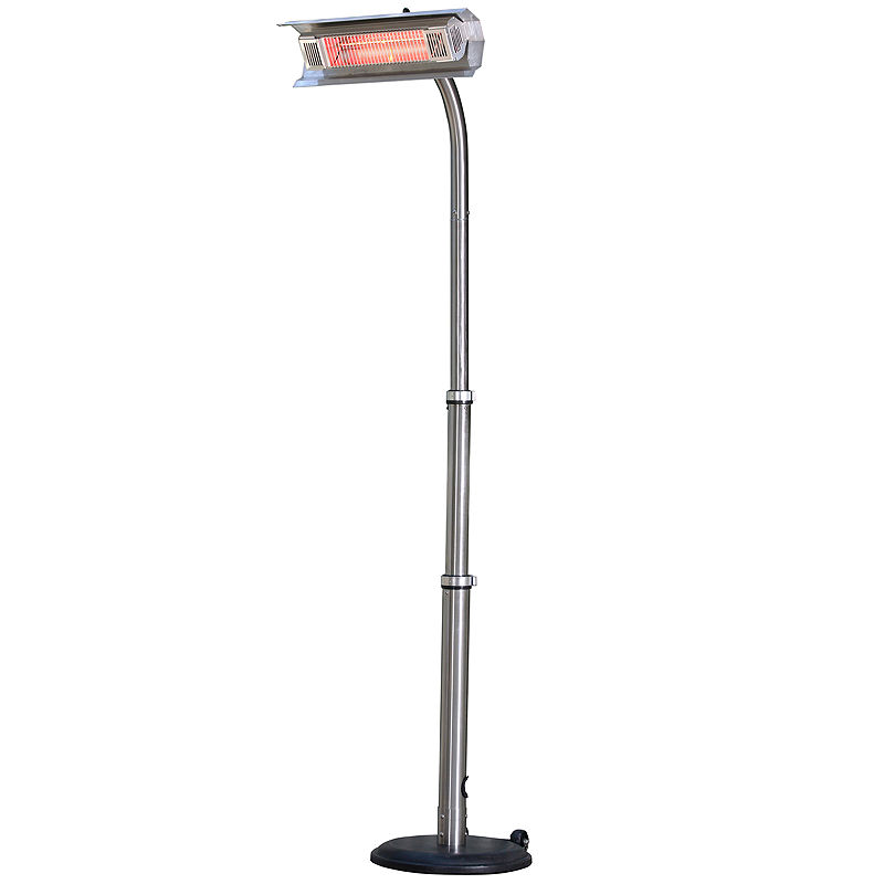 Fire Sense Telescoping Infrared Indoor/Outdoor Heater with Offset Pole, Stainless Steel