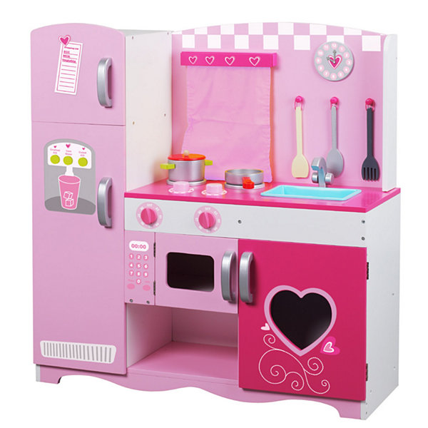Pink Wood Kitchen Playset