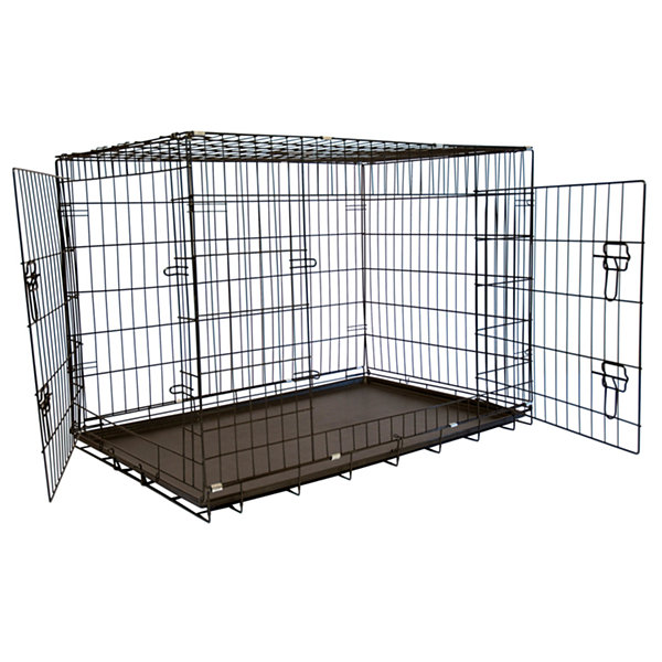 "Iconic Pet Foldable Double Door Pet Training Crate with Divider, 20"" H x 18"" W x 24"" L"
