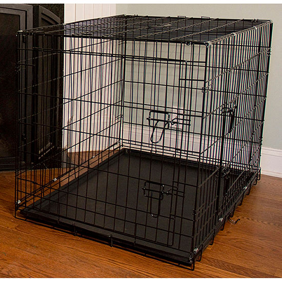 """Iconic Pet Foldable Double Door Pet Training Crate with Divider, 20"""" H x 18"""" W x 24"""" L"""