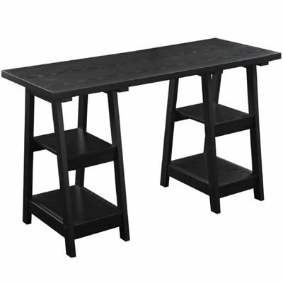 Convenience Concepts Designs2Go Double Trestle Desk