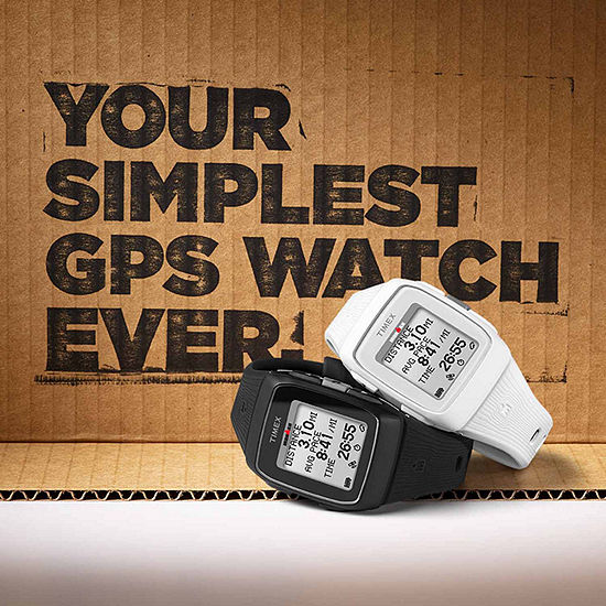 Timex Ironman Gps Unisex White Watch-TW5M11900F5