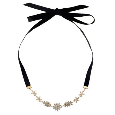 Natasha Accessories Womens Clear Round Choker Necklace