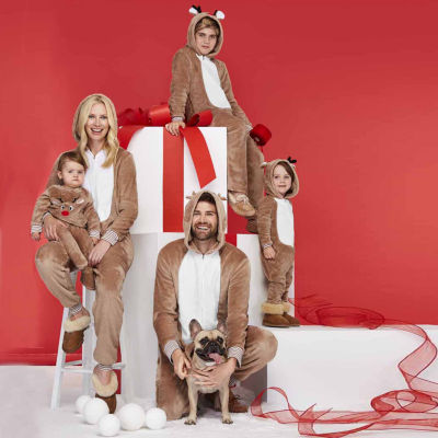 North Pole Trading Co. Reindeer Family Pajamas-Pet