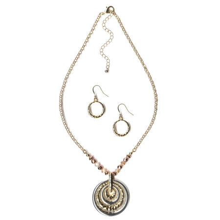 Mixit Mixit Womens 2-pc. Brass Jewelry Set 6sWWRazG