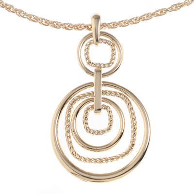 Monet Jewelry Womens Round Pendant Necklace