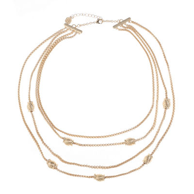 Monet Jewelry Womens Round Strand Necklace
