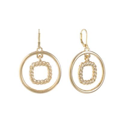 Monet Jewelry Round Drop Earrings