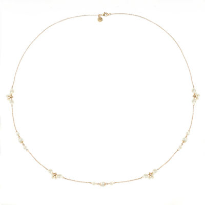 Monet Jewelry Womens White Simulated Pearls Strand Necklace