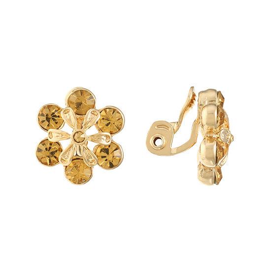 Monet Jewelry 1 Pair Brown Clip On Earrings