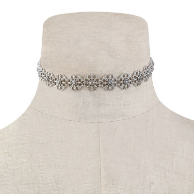 Liz Claiborne Womens Gray Choker Necklace