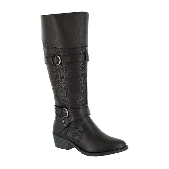 Easy Street Womens Kelsa Riding Boots Block Heel