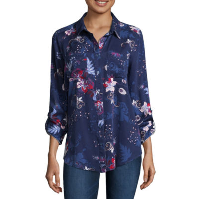 Liz Claiborne 3/4 Sleeve T-Shirt-Womens Talls