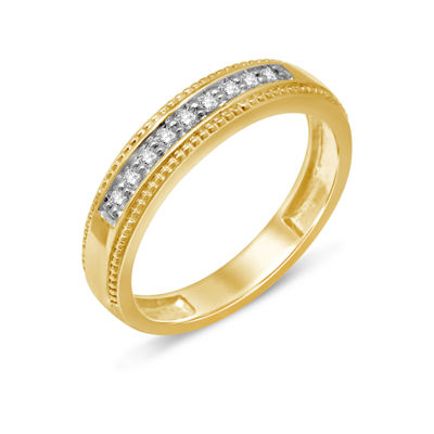 Womens 1/8 CT. T.W. White Diamond 14K Gold Wedding Band
