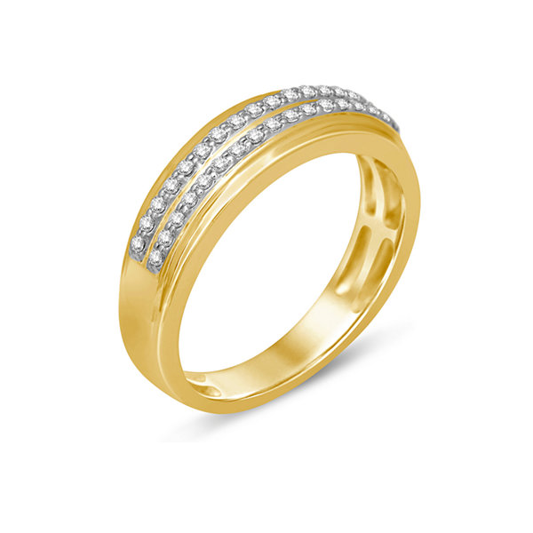 Womens 1/5 CT. T.W. White Diamond 14K Gold Wedding Band
