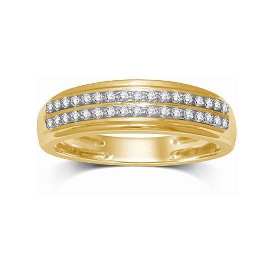 Womens 5.5MM 1/5 CT. T.W. Genuine White Diamond 14K Gold Wedding Band