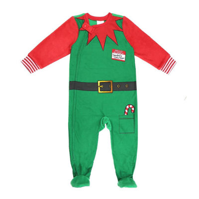 North Pole Trading Co. Holiday Elf Family Pajamas -Baby