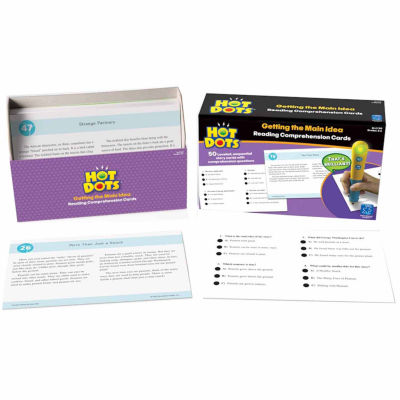 Educational Insights Hot Dots® Reading Comprehension Card Set — Getting the Main Idea