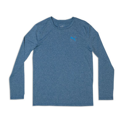 Puma Long Sleeve Crew Neck T-Shirt-Big Kid Boys
