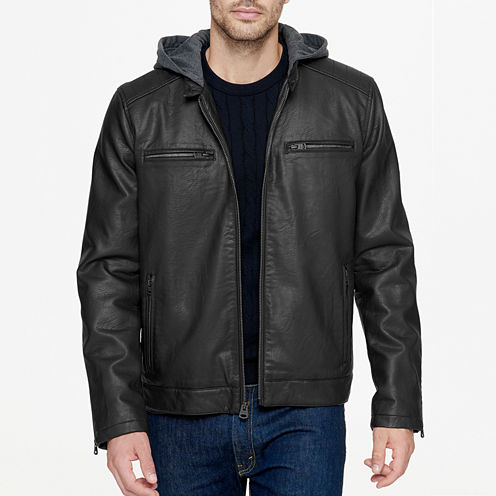 Levi's® Rugged Faux Leather Hooded Racer