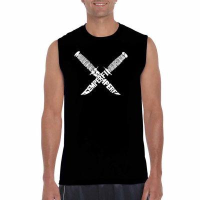 Los Angeles Pop Art Semper Fi Sleeveless Word ArtT-Shirt