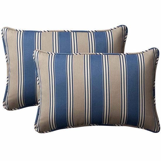 Pillow Perfect Hamilton Rectangular Outdoor Pillow- Set of 2