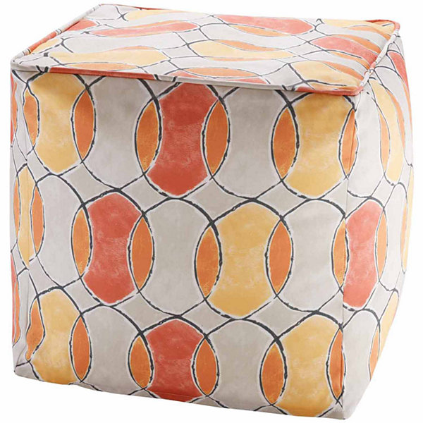 Madison Park Cayucos 3M Scotchgard Outdoor Pouf
