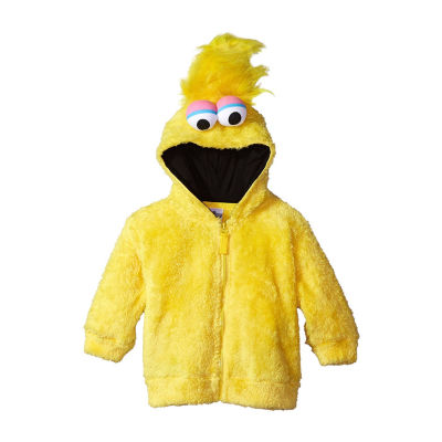 Sesame Street Toddler Girls Big Bird Costume Hoodie with Faux Fur and 3D Face