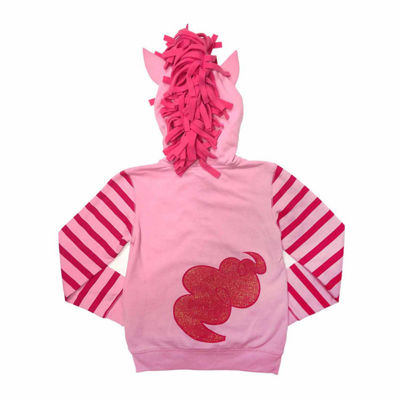 My Little Pony Girls Pinkie Pie Costume Hoodie with Crystalline and 3D Mane