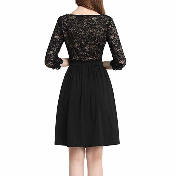 phistic Women's Lace Fit & Flare Dress