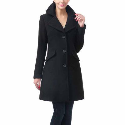 BGSD Women's Sasha Plush Wool Blend Coat
