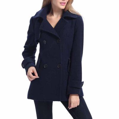 BGSD Women's Piper Plush Wool Blend Coat - Plus