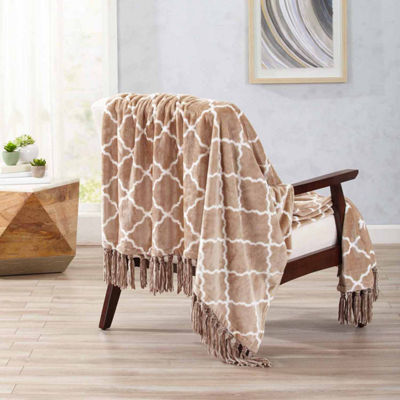 Lattice Print Throw