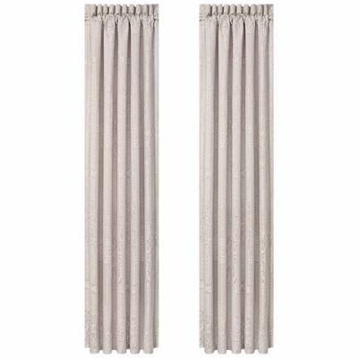 Queen Street Wesley 2 Pair Rod-Pocket Curtain Panels