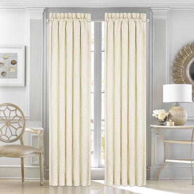 Five Queens Court Maureen Rod-Pocket Curtain Panel