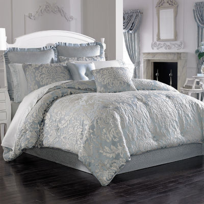 Five Queens Court Faith 4-pc. Damask + Scroll Heavyweight Comforter Set