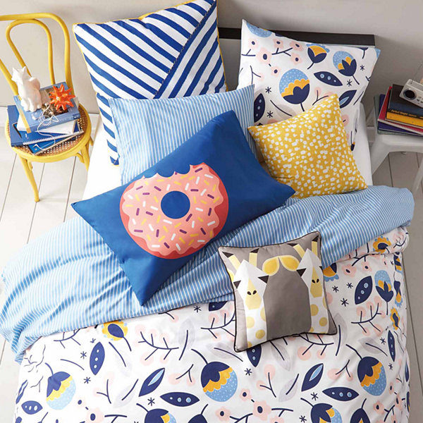 Scribble Floral Medley Duvet And Sham Set