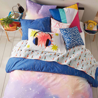Scribble Twilight Duvet And Sham Set