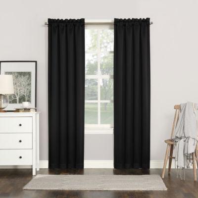 Sun Zero Evan Rod Pocket Blackout Rod-Pocket Curtain Panel