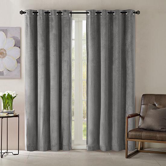 Madison Park Yvette Energy Saving Room Darkening Grommet Top Curtain Panel