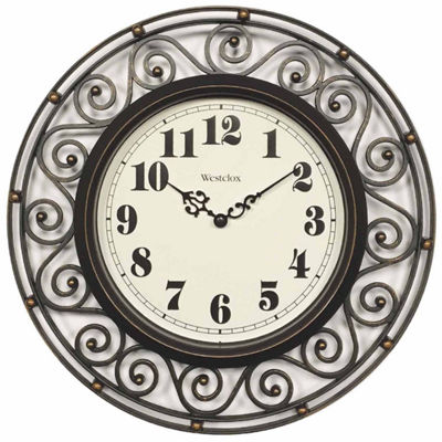 Westclox Wrought Iron Design Wall Clock