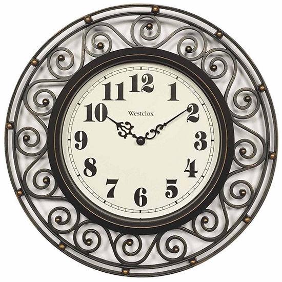 Westclox Wrought Iron Design Wall Clock