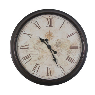 Décor Therapy Antique Map Clock