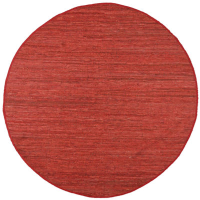 St. Croix Trading Matador Leather Chindi Round Rugs