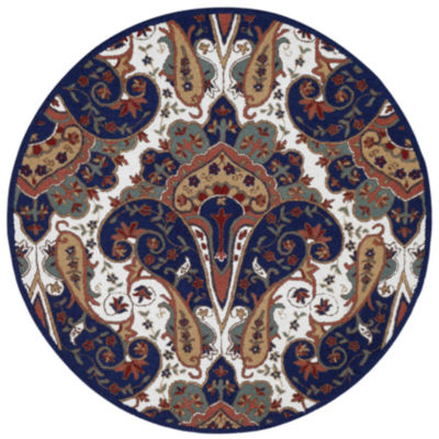 St. Croix Trading Paisley Wave Round Rugs